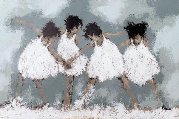 FOUR GIRLS - WHITE Acrylic on canvas 120x80cm